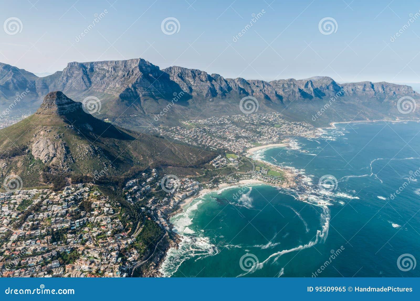 Tiro da antena de Clifton Cape Town