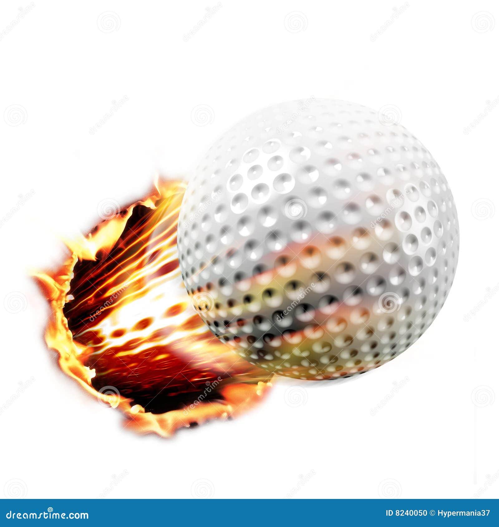 Tiro da esfera de golfe