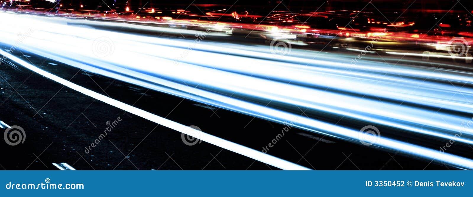 Tiro da velocidade e da noite