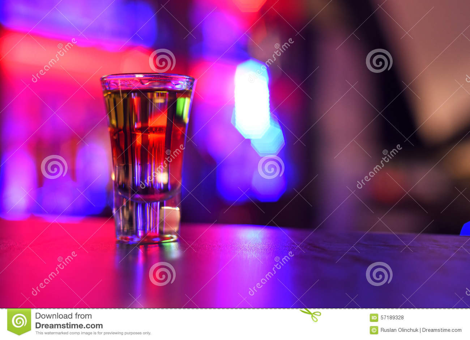 Tiro de la bebida