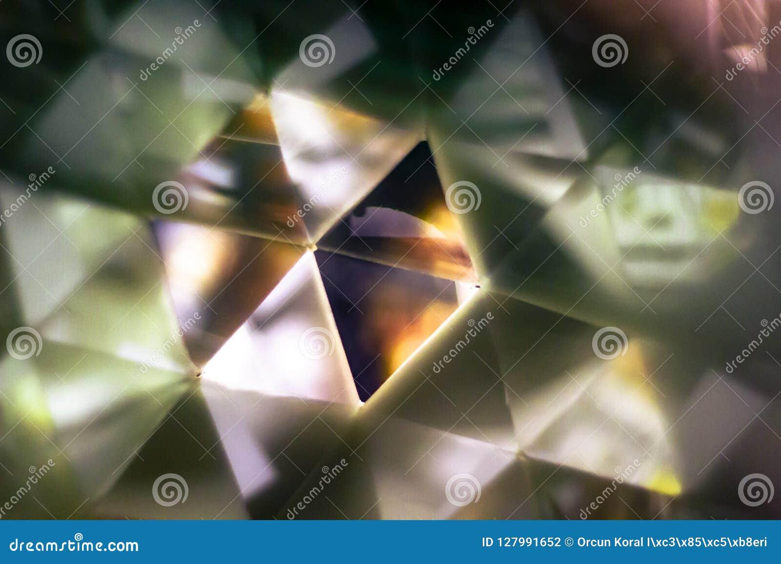 Tiro del primo piano di fondo riflettente da effetto dello specchio