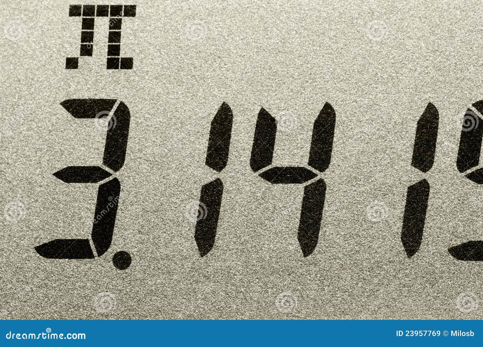 Tiro macro do número do Pi