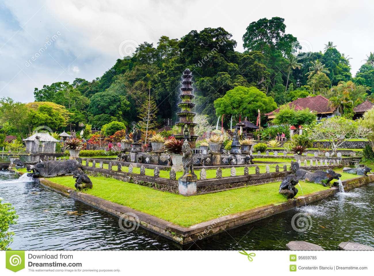 Tirta Gangga Royal Water Garden: Tirta Gangga Water Palace In East Bali, Indonesia