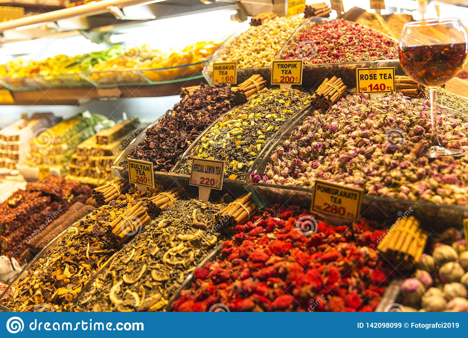 Tisana no bazar grande Istambul Turquia