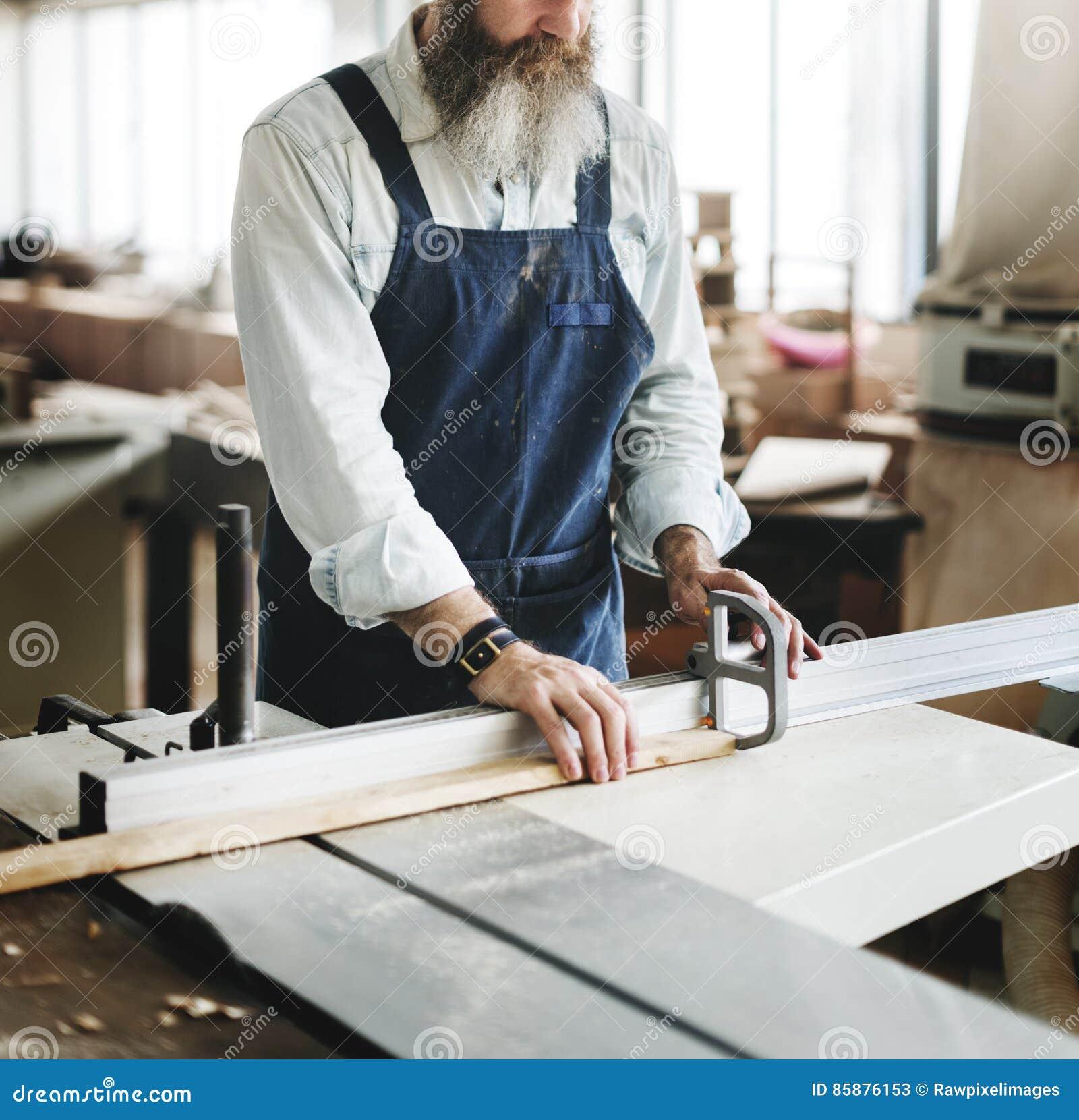Tischler-Handwerker-Handicraft Wooden Workshop-Konzept
