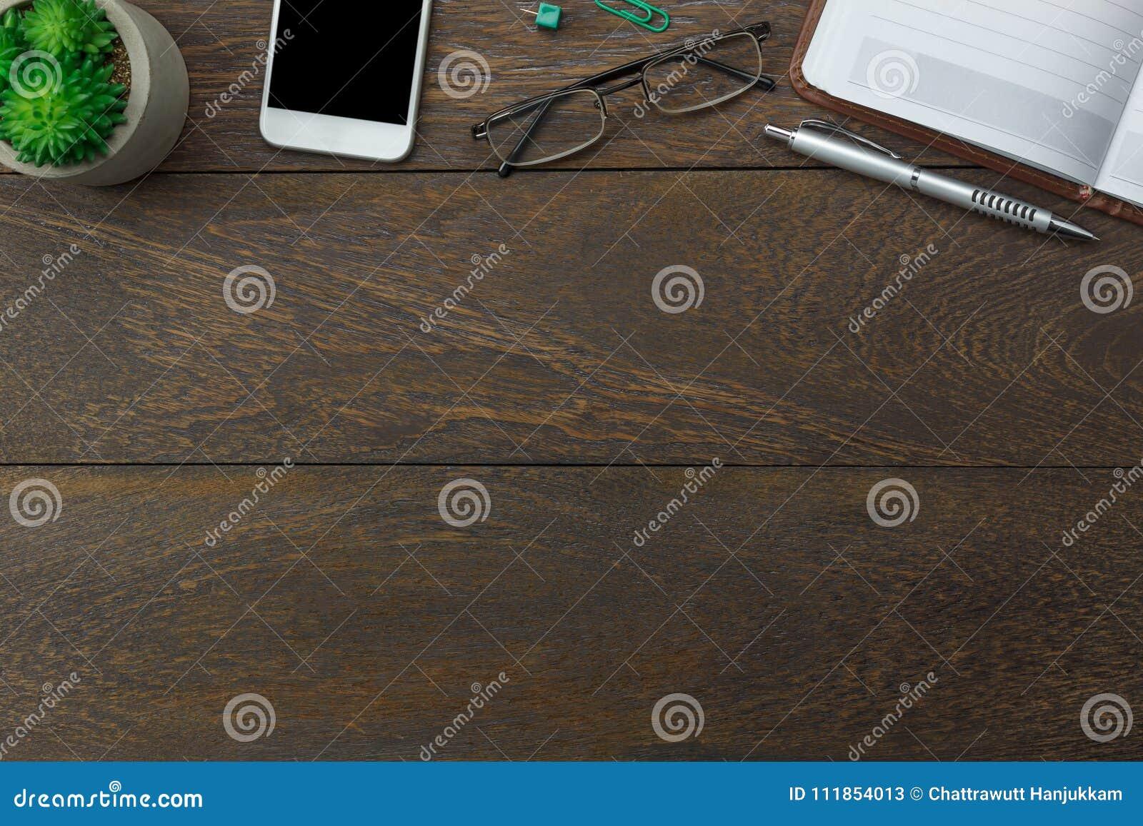 Tischplatteansicht Luftbild Stationär Auf Schreibtischhintergrund