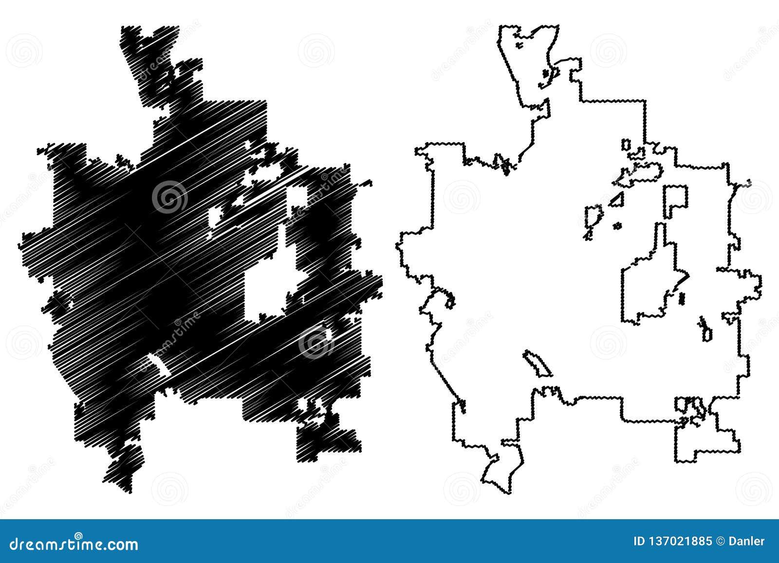 City Of Colorado Springs >> Colorado Springs City Map Vector Stock Vector Illustration