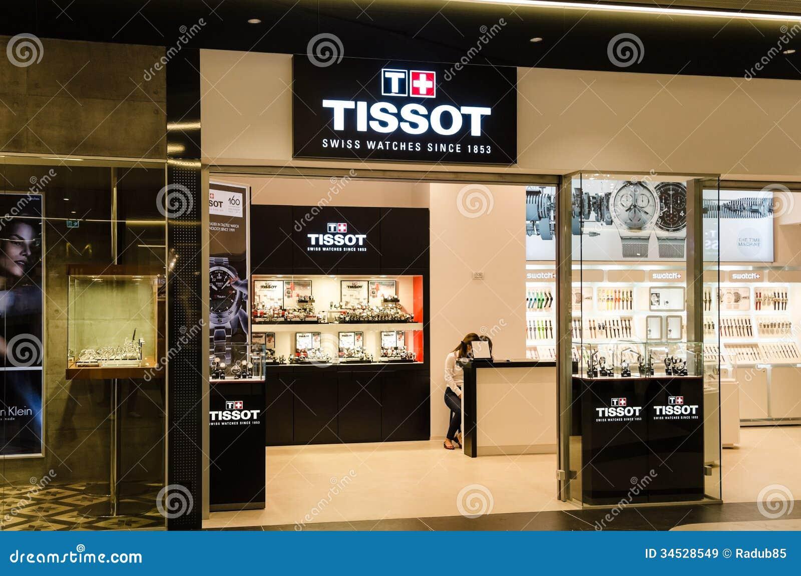 tissot shop editorial stock image image 34528549