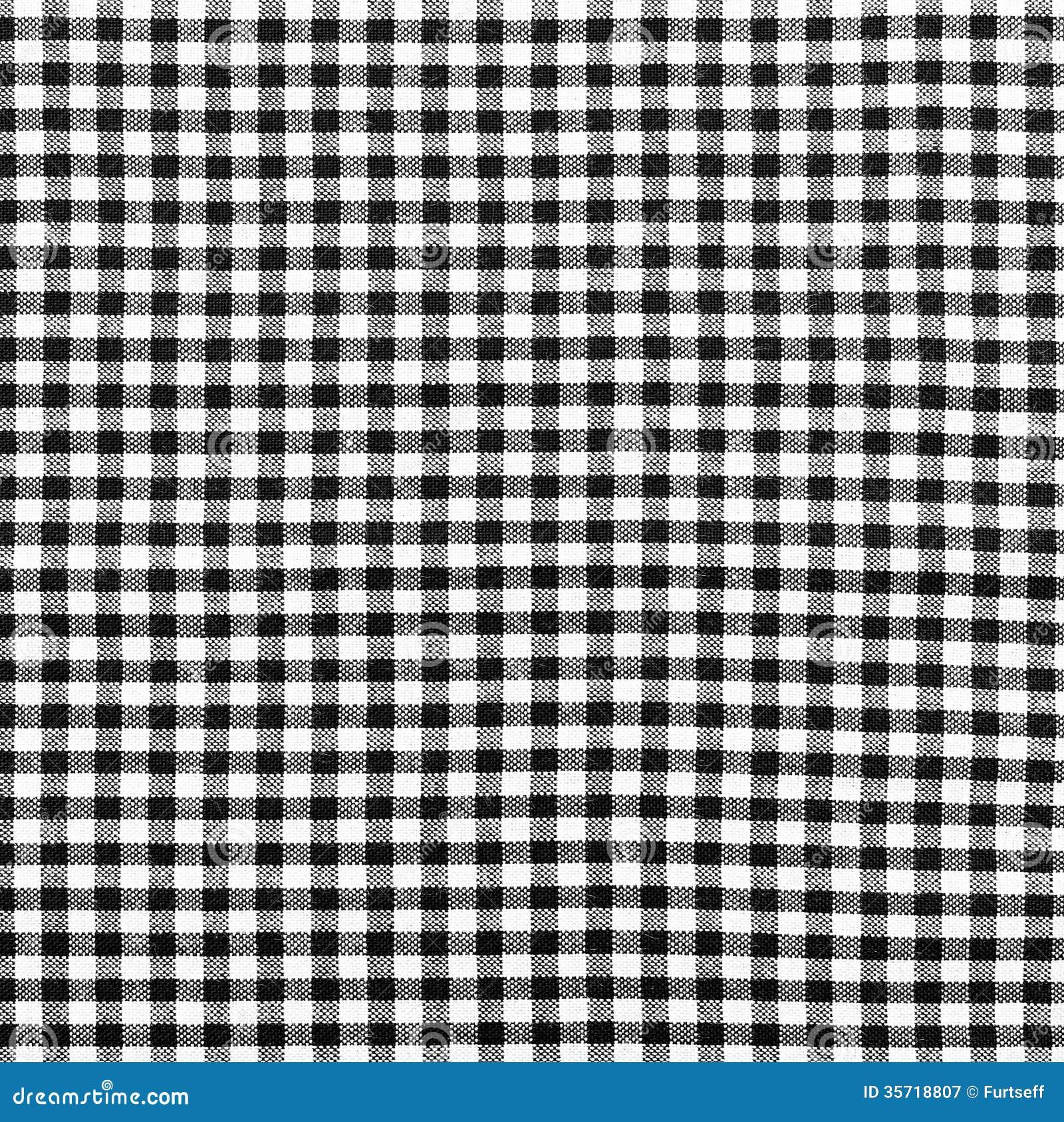 tissu carreaux noir et blanc photographie stock libre de. Black Bedroom Furniture Sets. Home Design Ideas