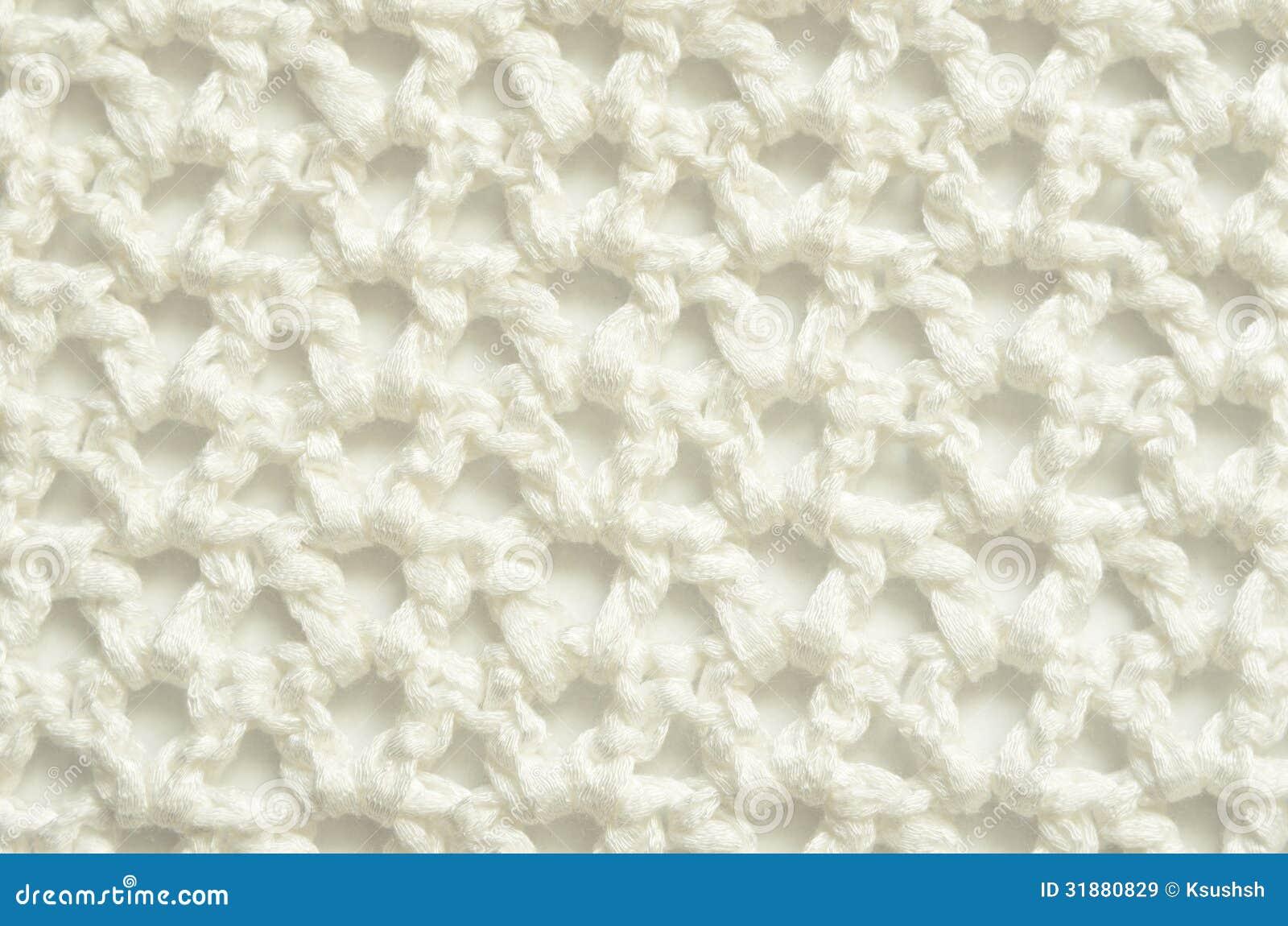 Tissu blanc de crochet