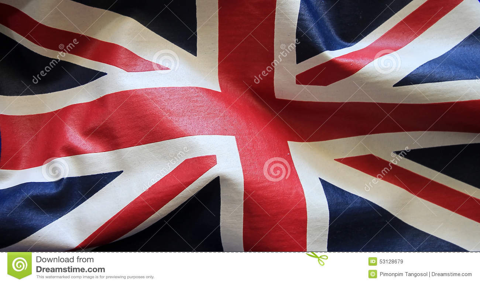 Tissu de drapeau d 39 union jack photo stock image 53128679 - Drapeau anglais tissu ...
