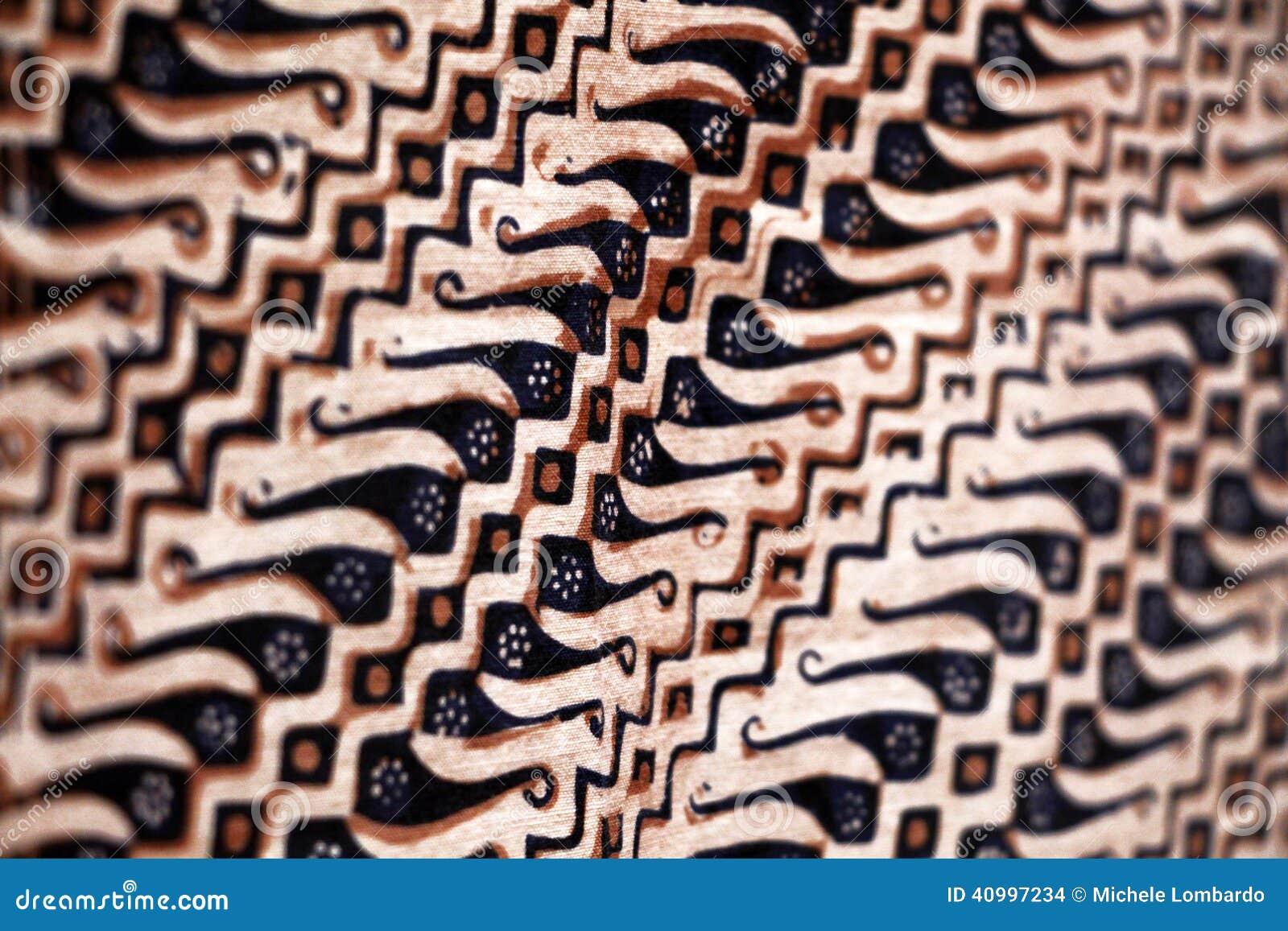 tissu de java indon sie peinture de batik photo stock. Black Bedroom Furniture Sets. Home Design Ideas