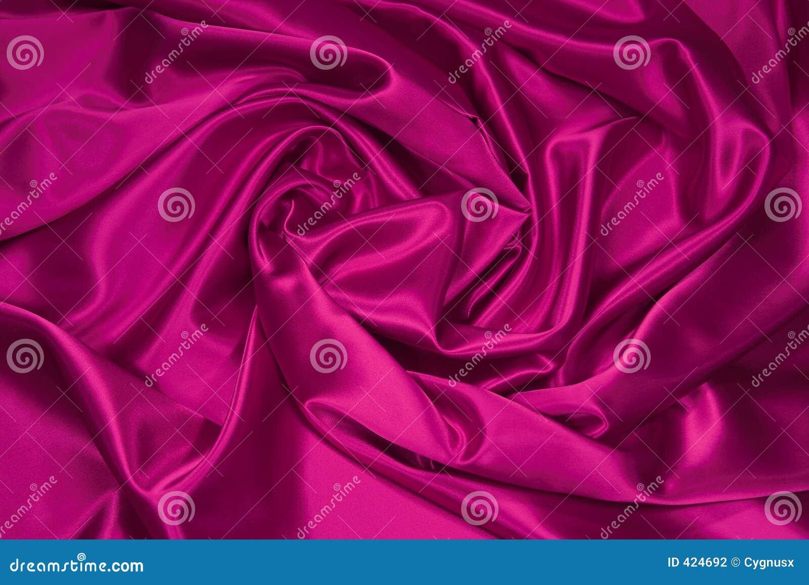 Tissu de satin/en soie rose 1