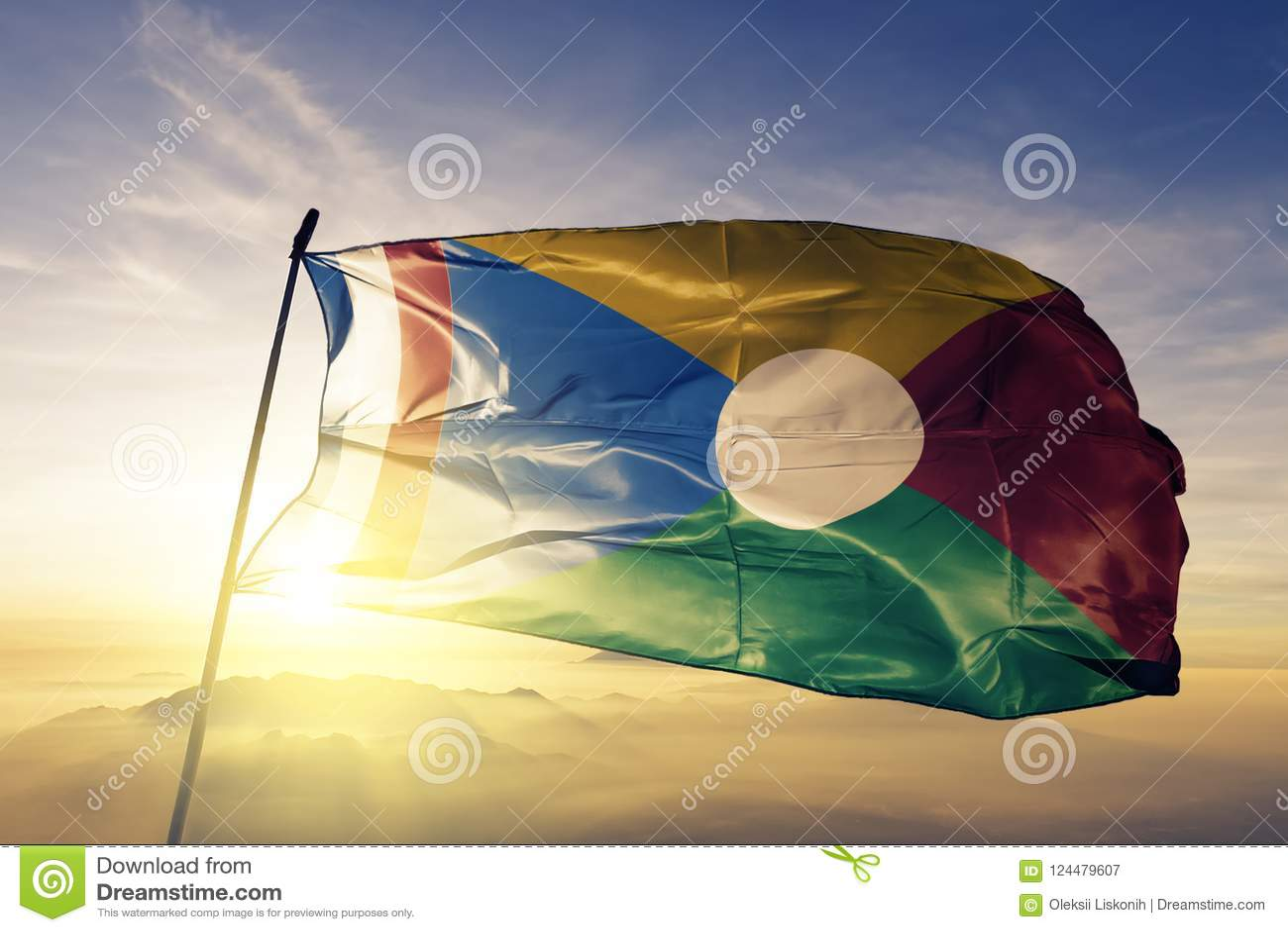 Tissu De La Reunion tissu de tissu de textile de drapeau national de la réunion