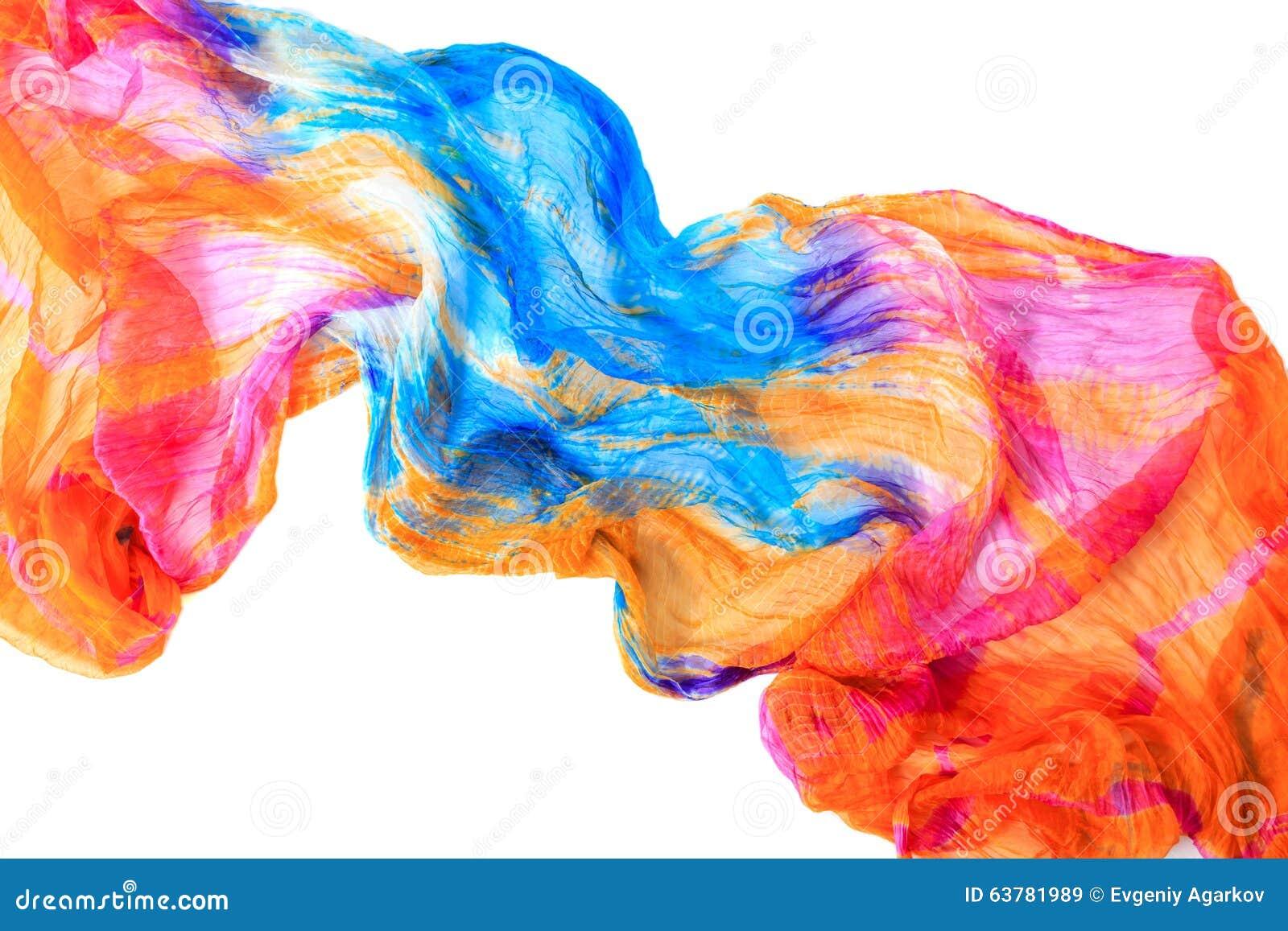 Tissu Drape Elegant Fond Orange Et Bleu De Texture De Tissu Image