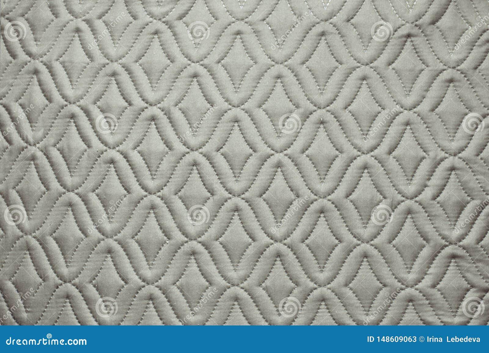 Tissu gris avec le modèle abstrait pour le fond d image