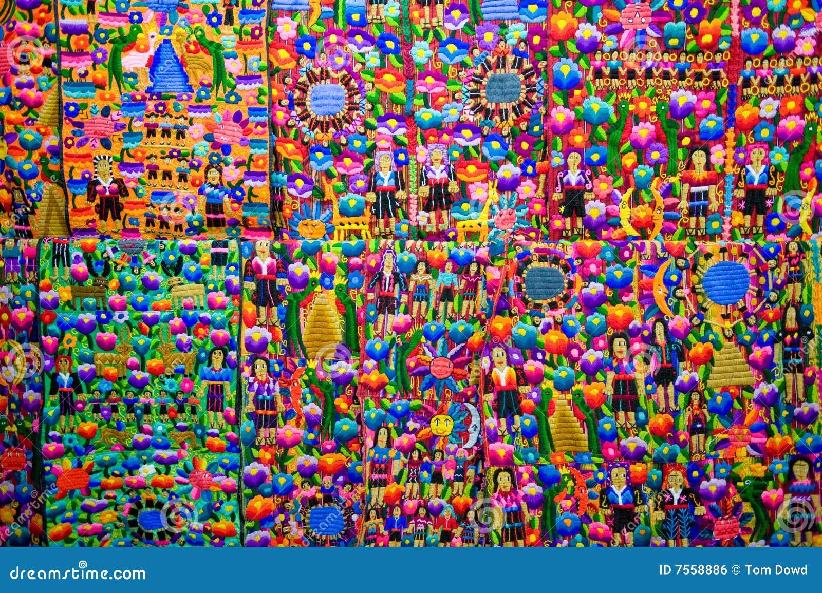 Tissu guat malt que color image libre de droits image 7558886 - Tissus bohemes colores ...