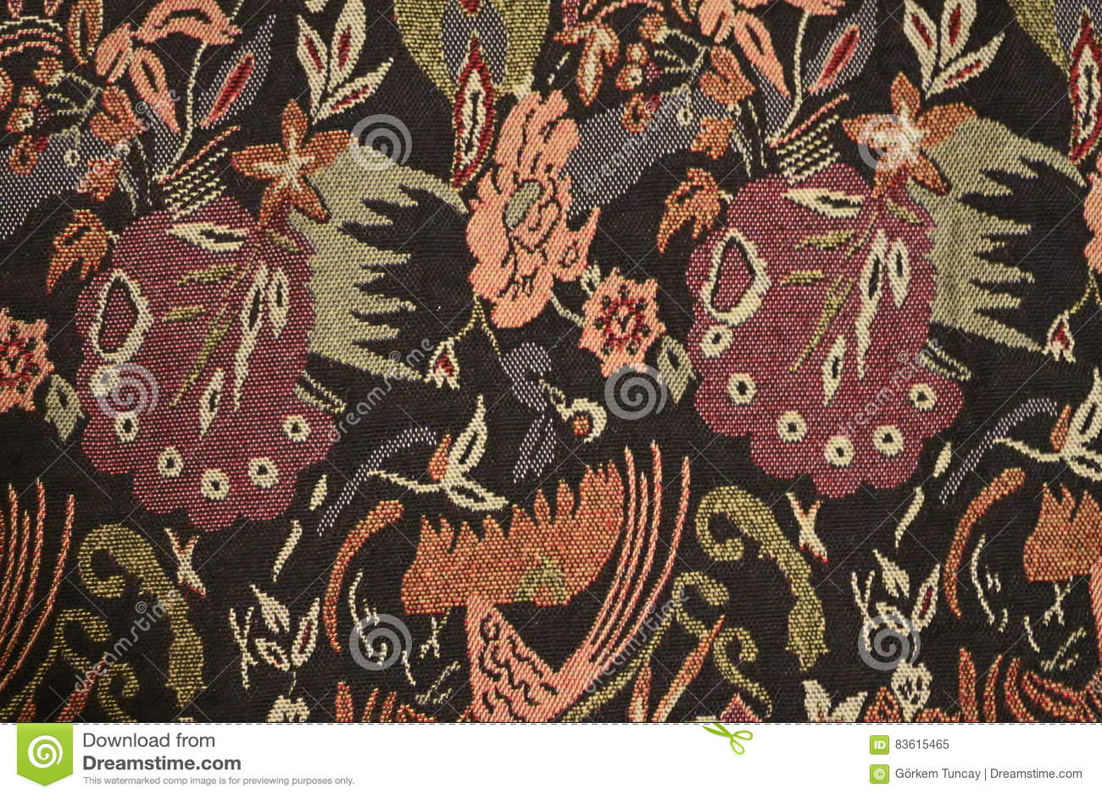 Tissu traditionnel de motif