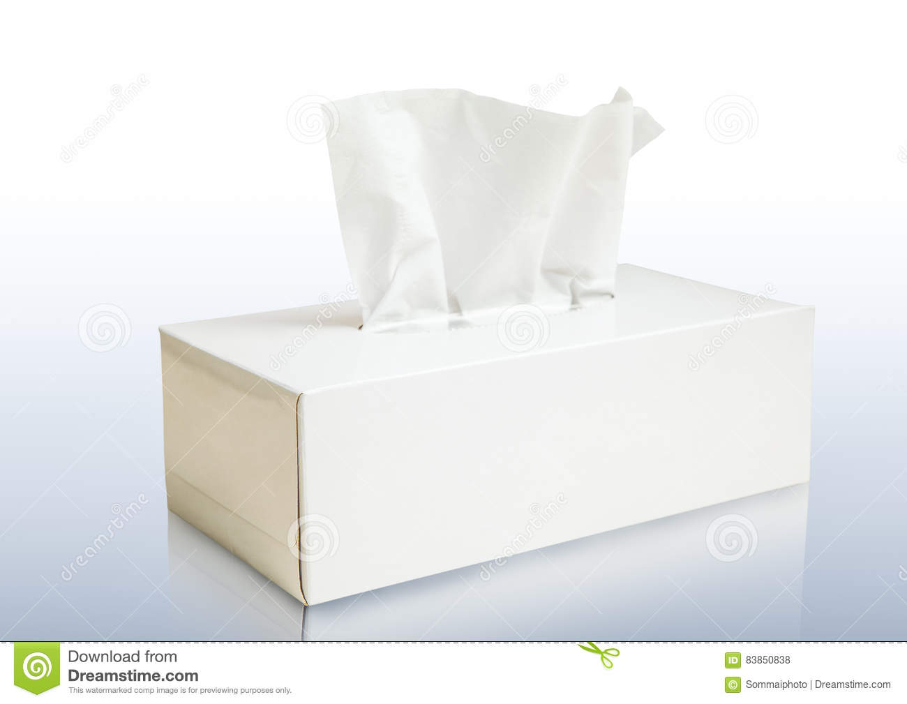 white tissue box mock up cartoon vector