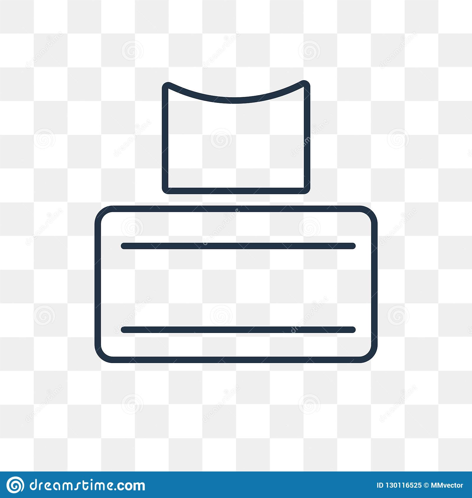 Tissues vector icon isolated on transparent background, linear T