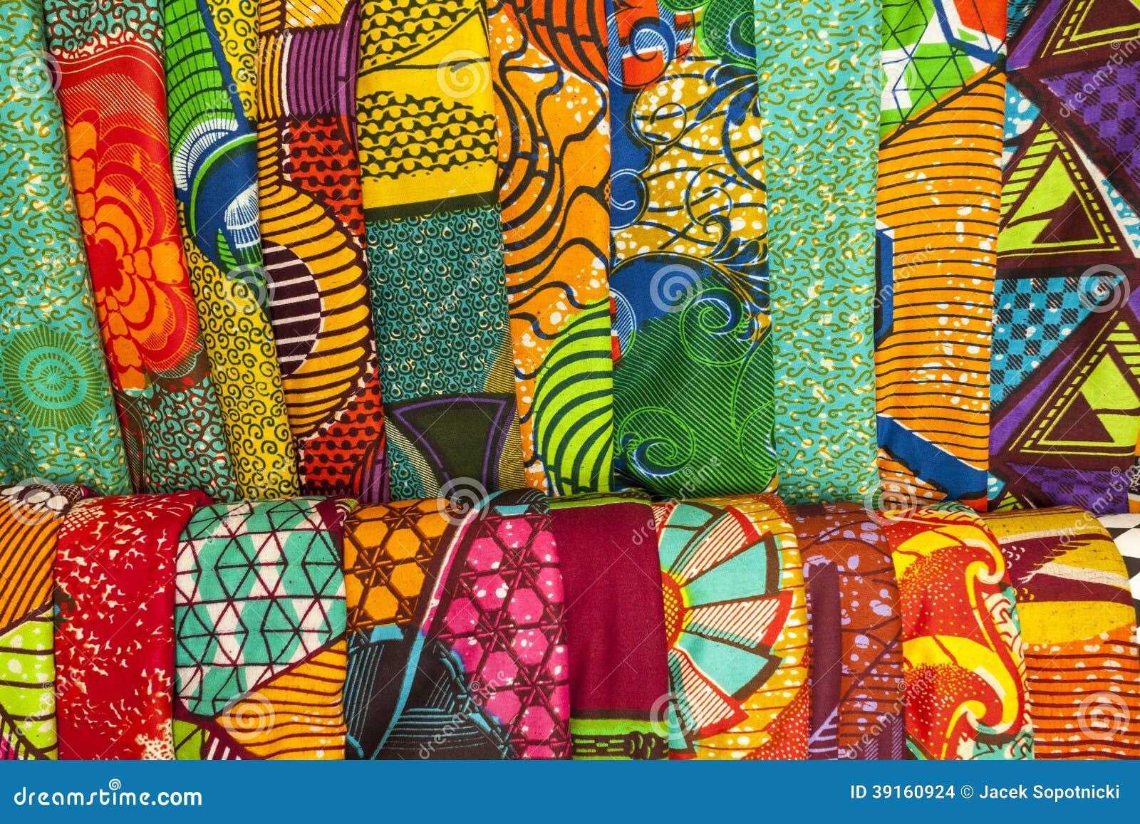 Tissus africains du ghana afrique de l 39 ouest photo stock - Les couleurs des tissus ...