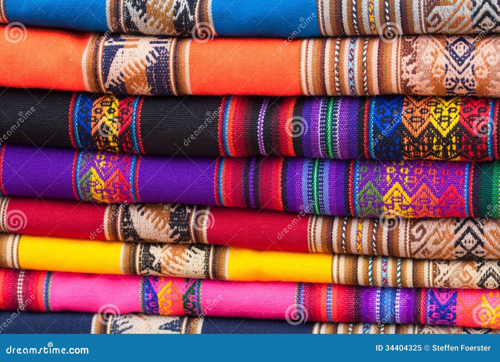 Tissus color s photo libre de droits image 34404325 - Tissus bohemes colores ...