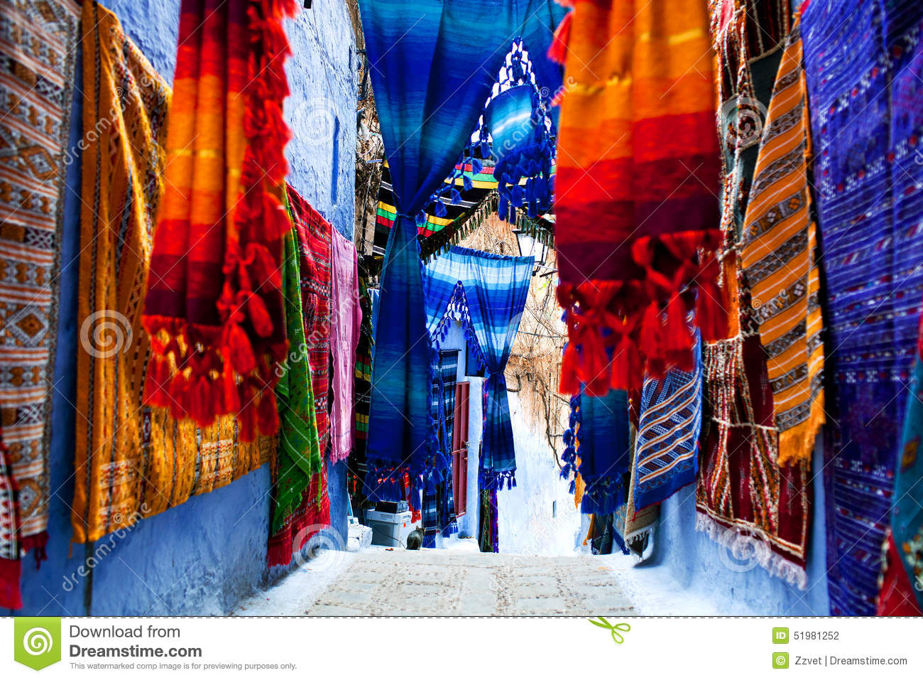 Tissus marocains color s photo stock image 51981252 - Tissus bohemes colores ...