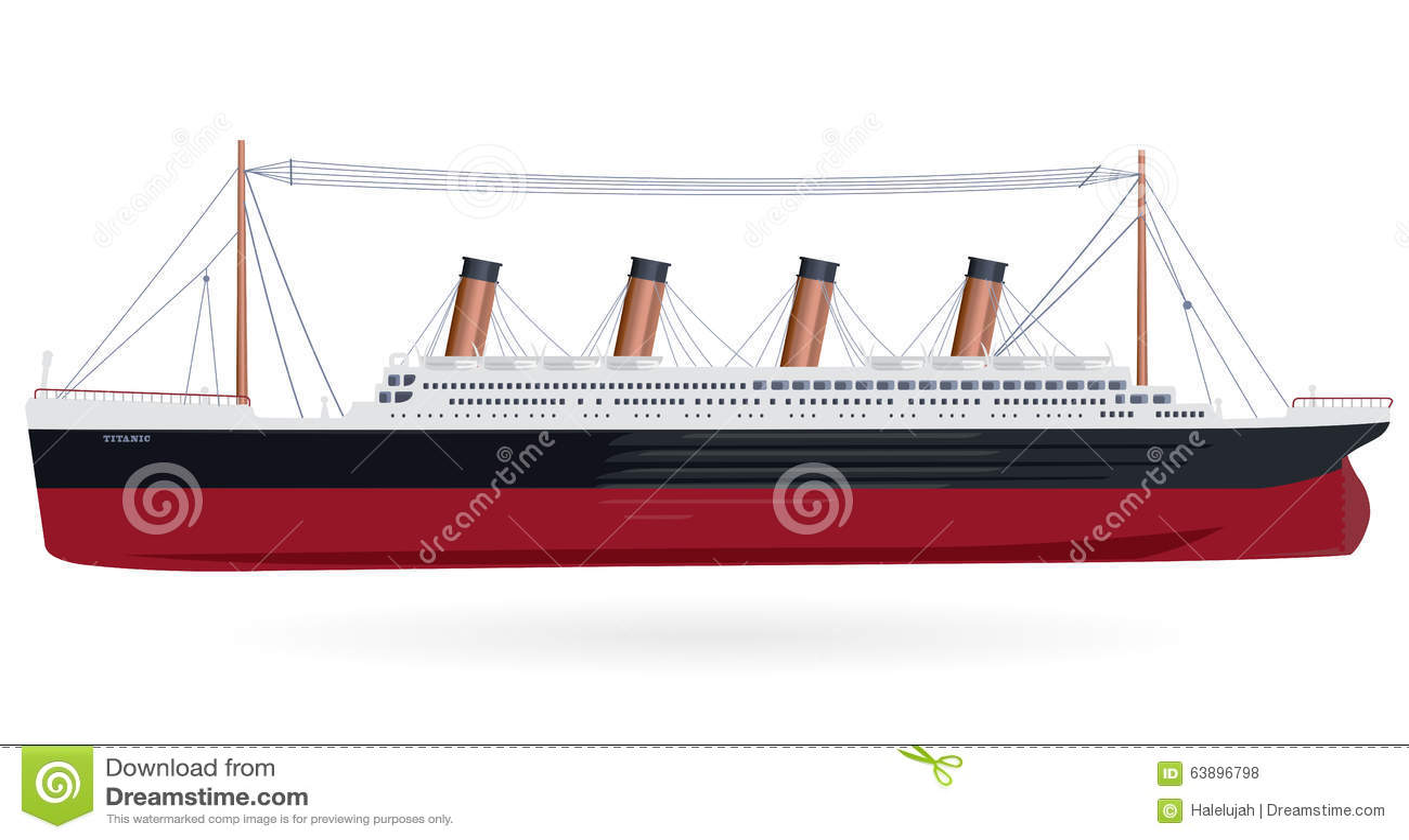 Titanic – Legendary Boat Stock Vector - Image: 63896798