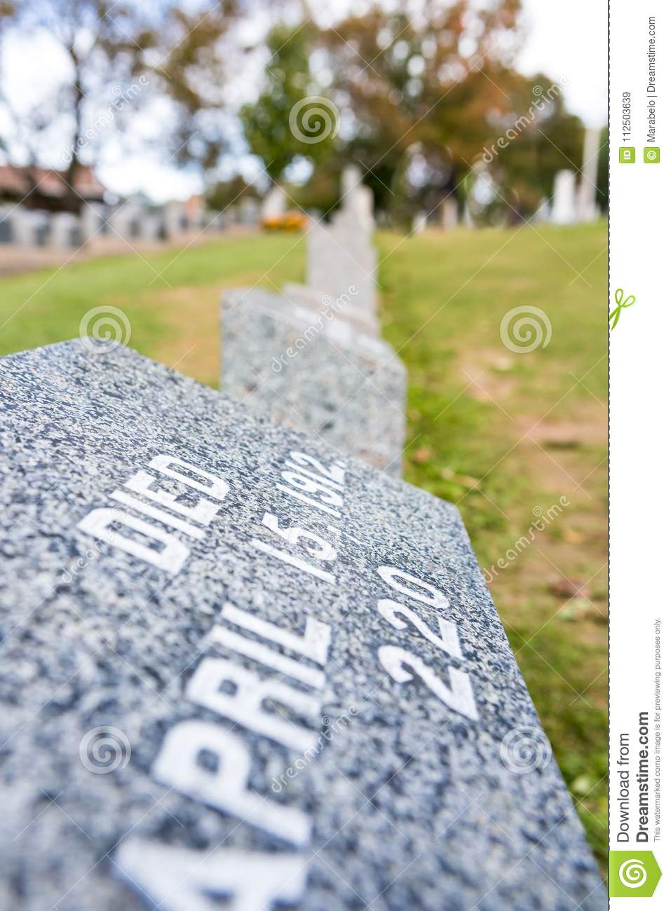 Titanic Cemetery. Place in the city of Halifax in Canada where t