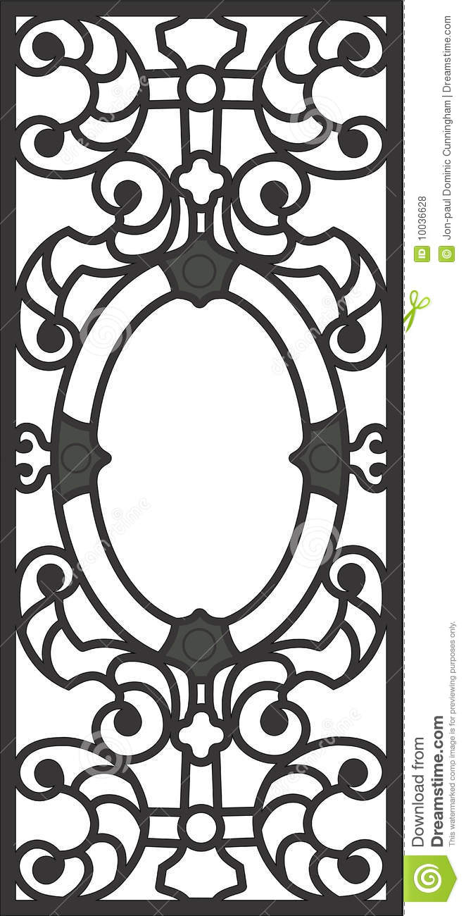 Titanic Dinning Room Door Grill Drawing Royalty Free Stock