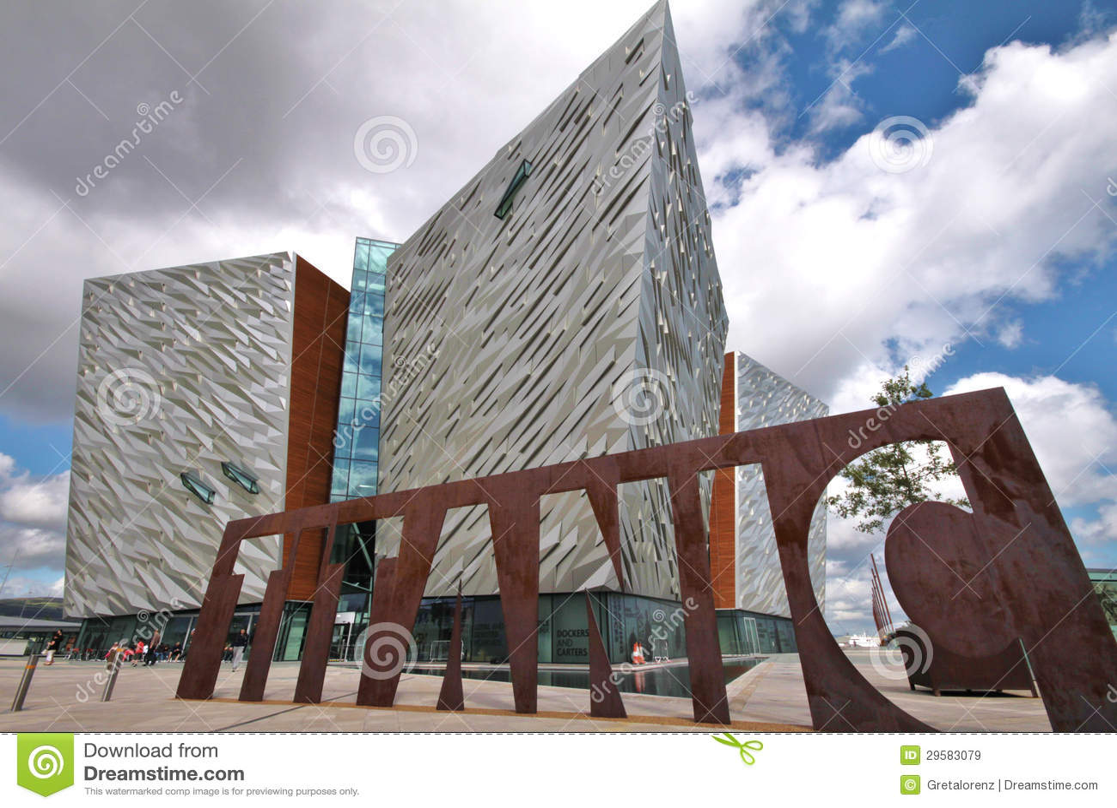 Titanic Museum and cloudy sky, Belfast