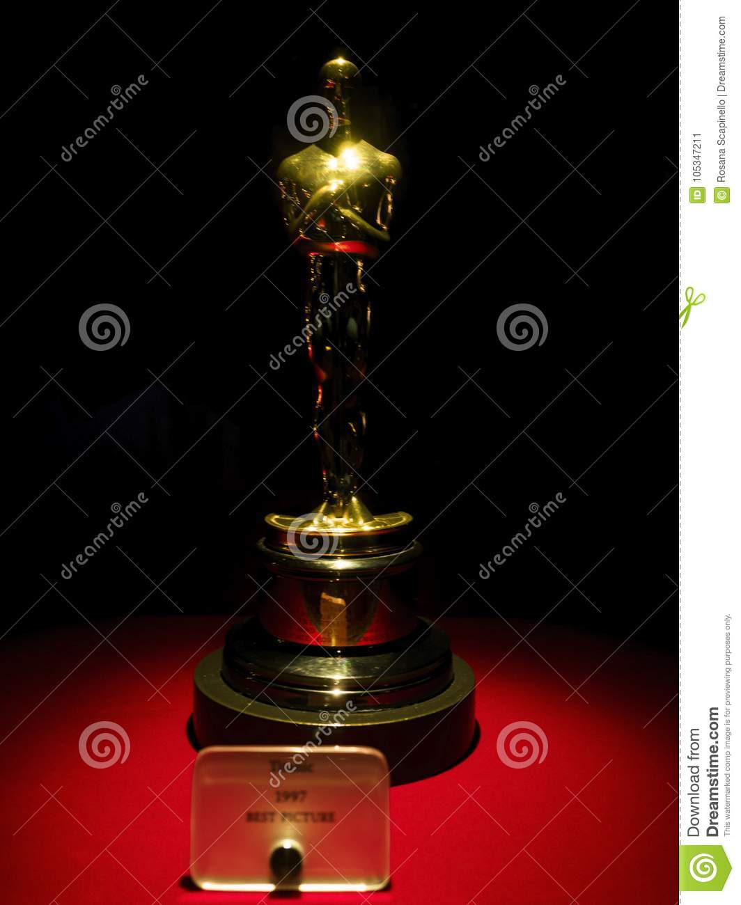 Titanic Oscar for Best Picture 1997 at Paramount Pictures Hollywood Tour on the 14th August, 2017 - Los Angeles, LA, California, C