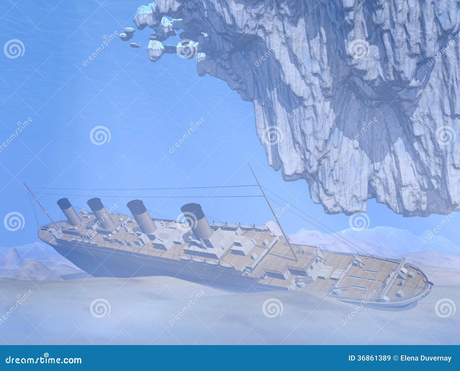 Titanic Ship Wreck 3d Render Stock Illustration Illustration