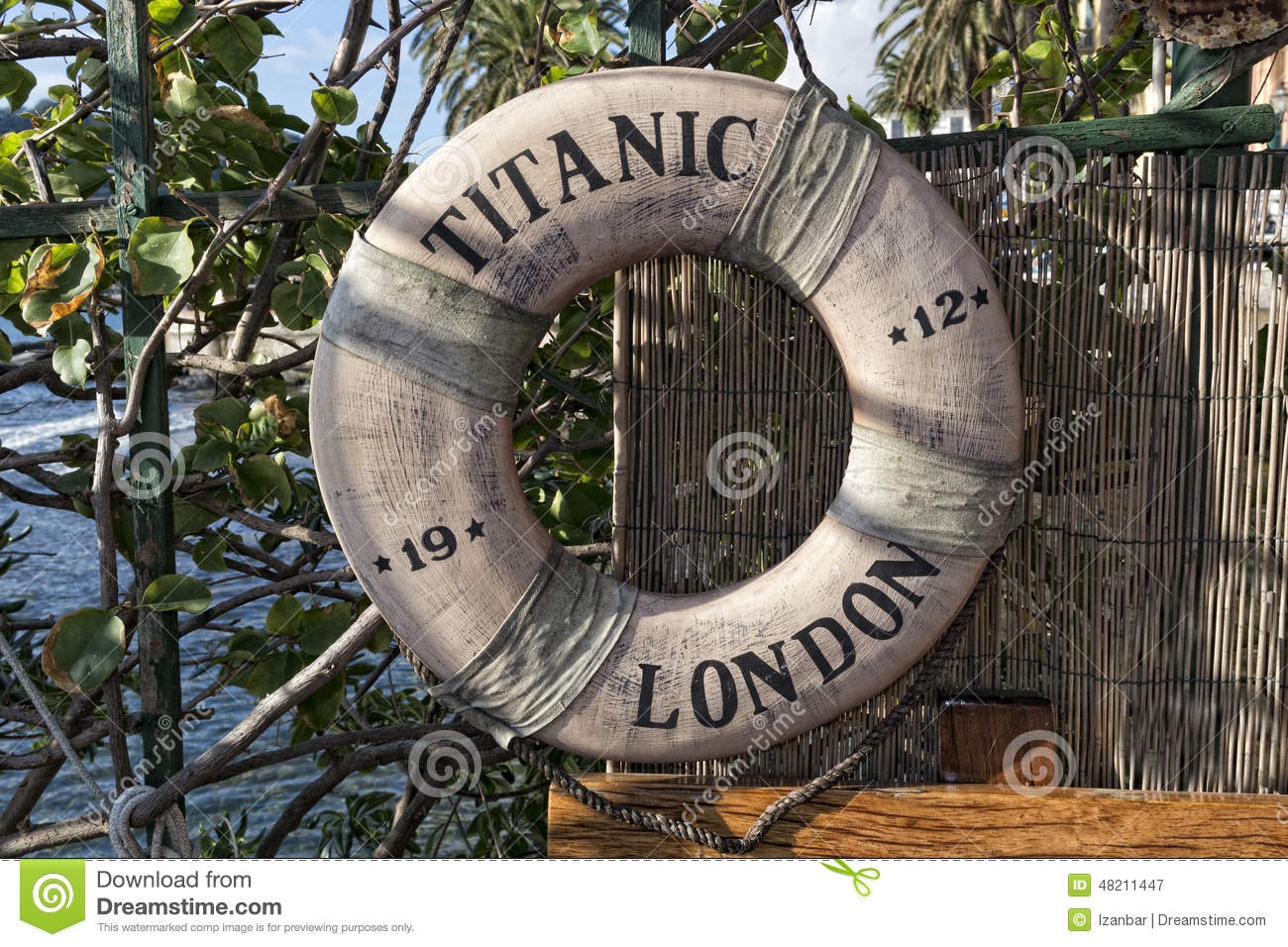 Titanic Ship Life Buoy Editorial Photography Image Of