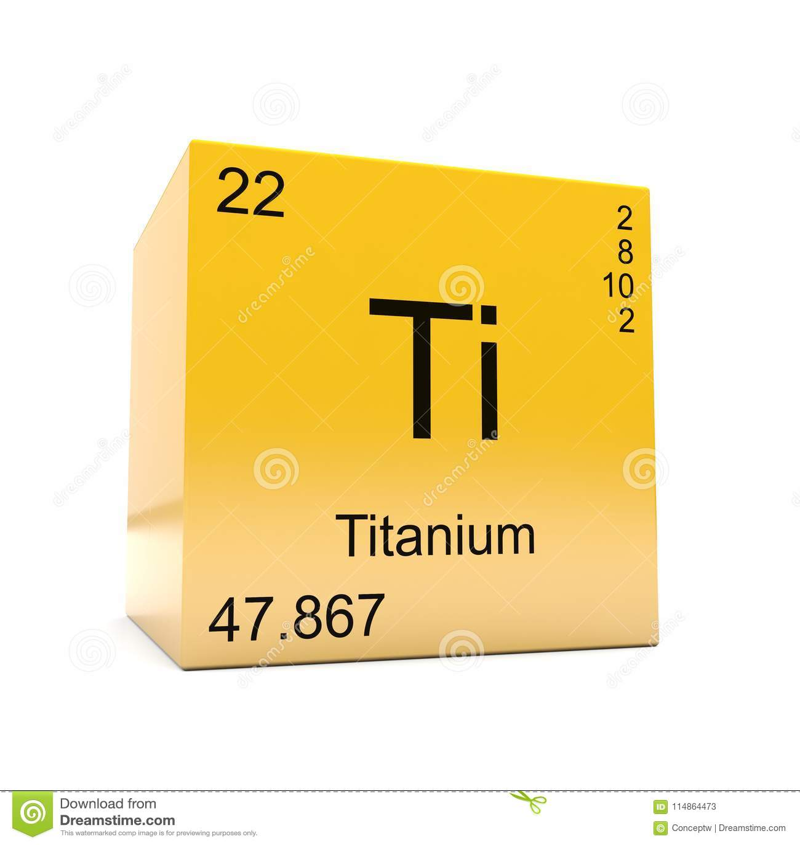 Titanium Chemical Element Symbol From Periodic Table Stock