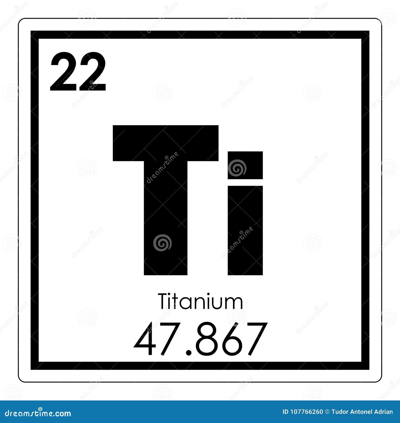Titanium chemical element stock illustration illustration of symbol titanium chemical element urtaz Choice Image