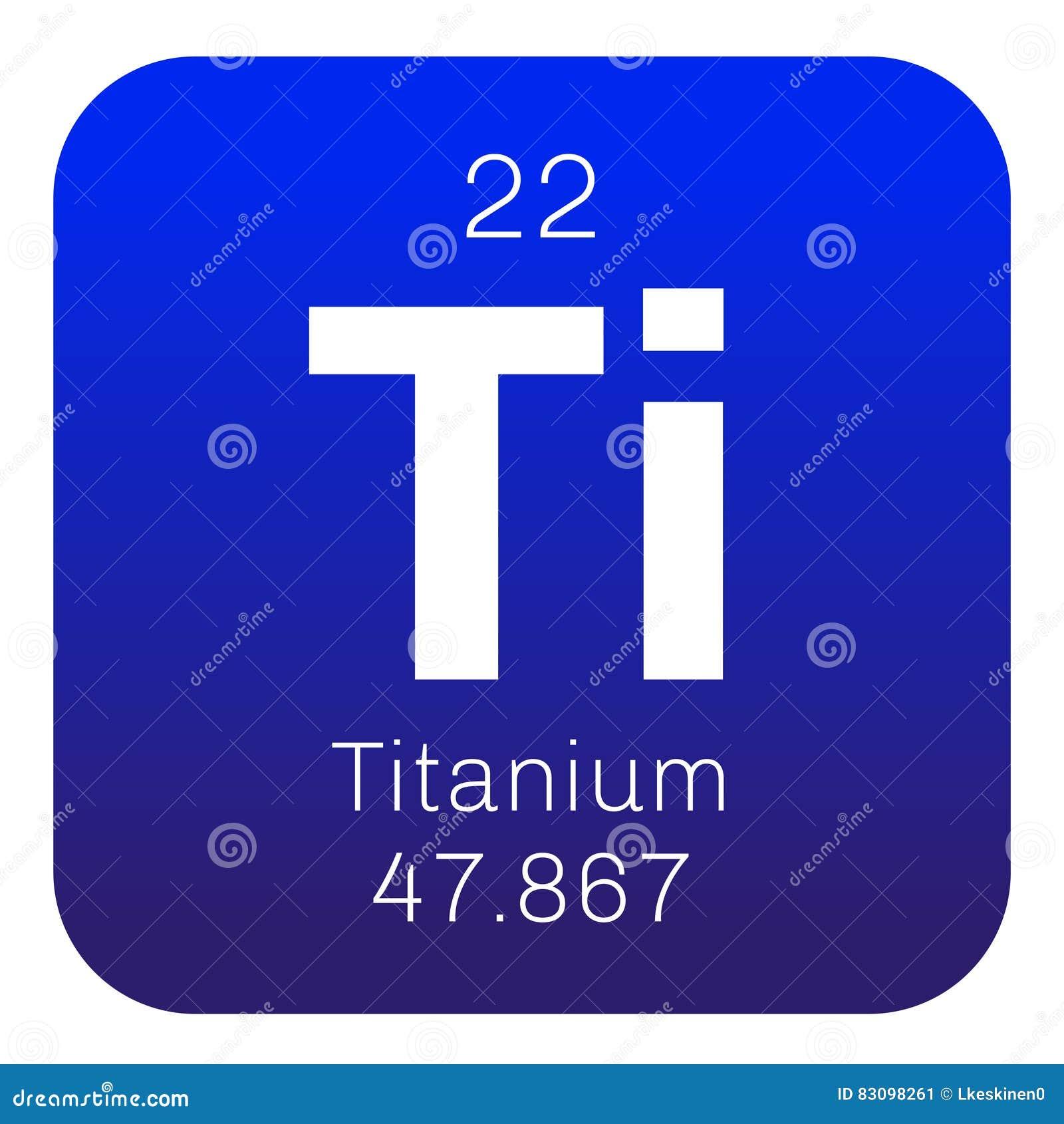 Titanium Chemical Element Stock Image Image Of School 83098261