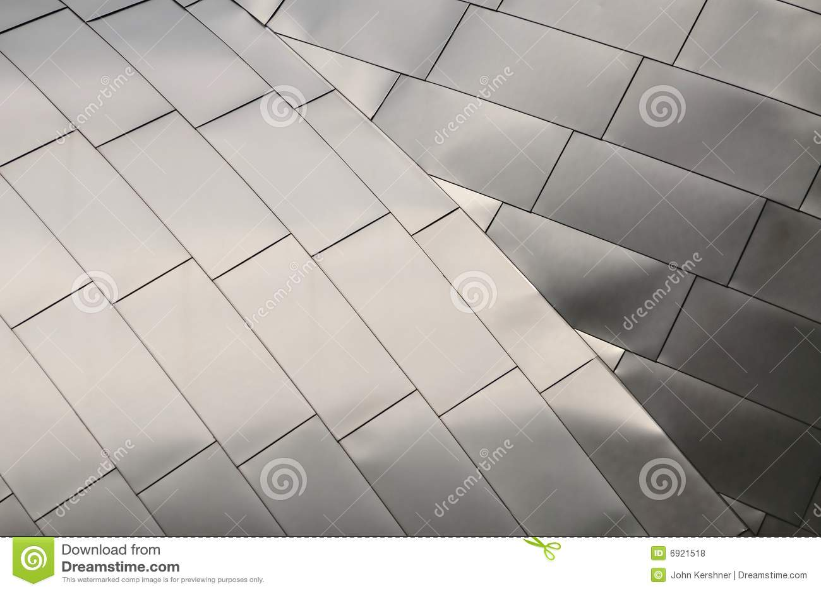 Titanium Roof Royalty Free Stock Photos