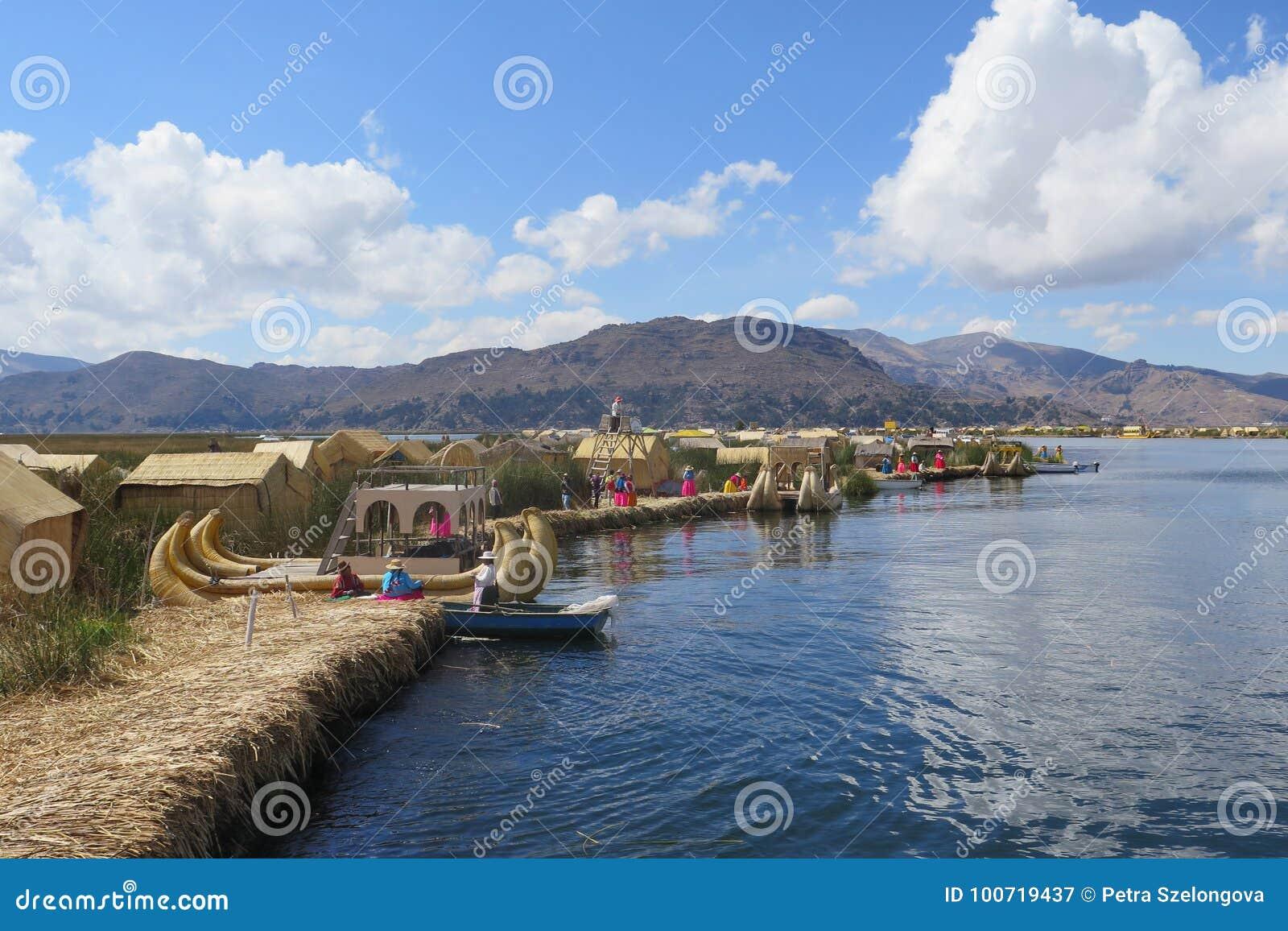 Titicaca του Περού λιμνών