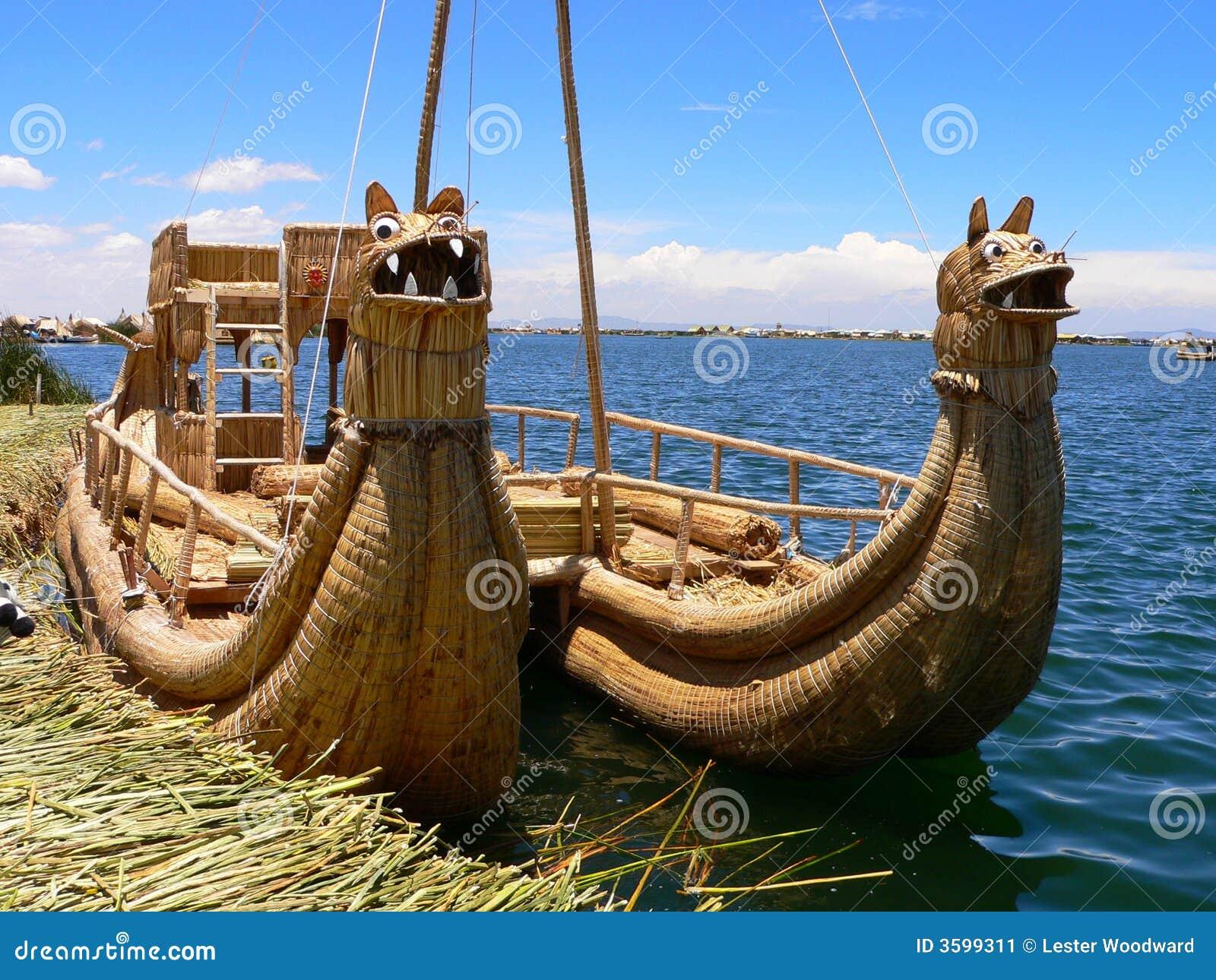 Titicaca de lámina del lago boat