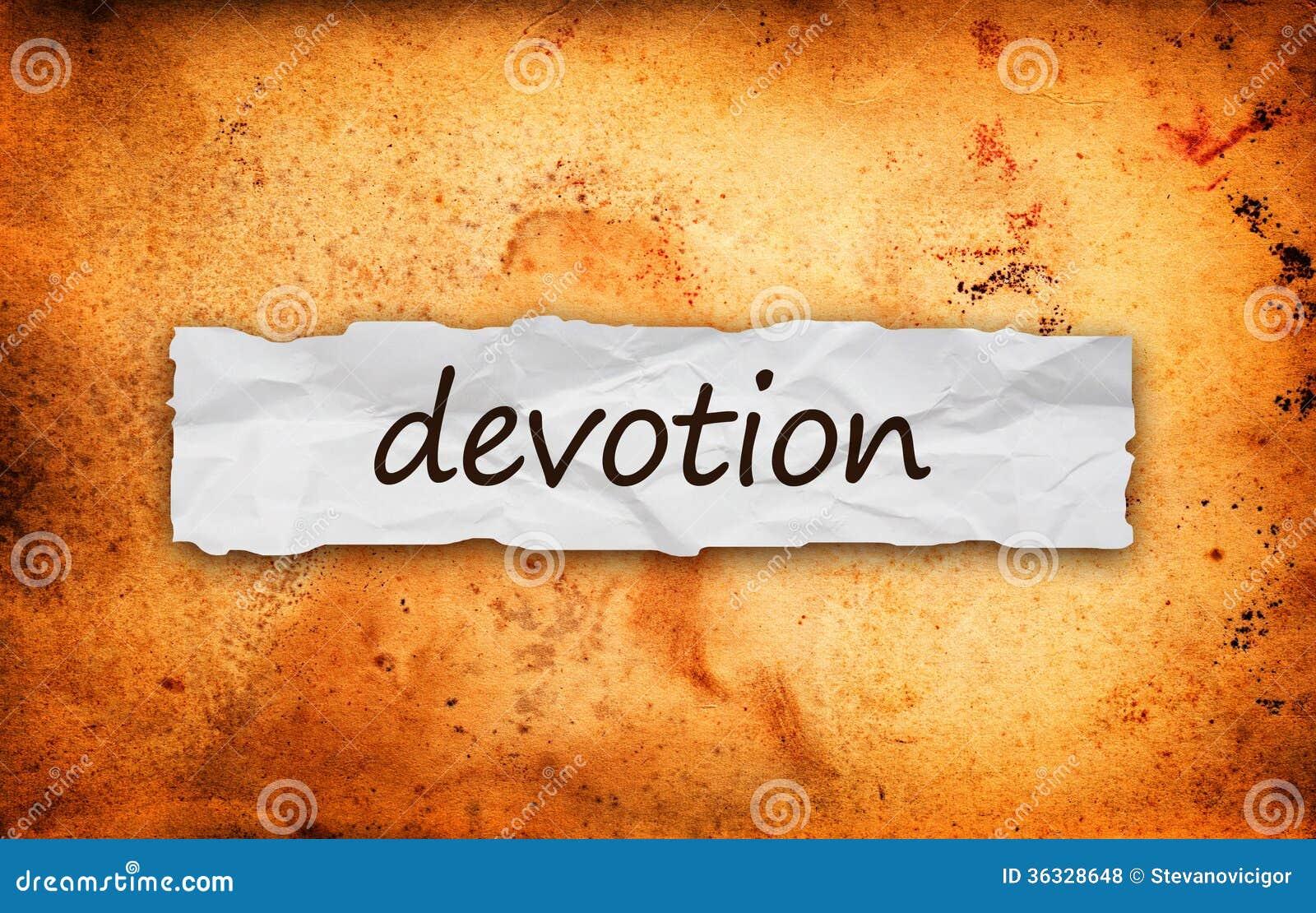 Titre de dévotion sur le morceau de papier