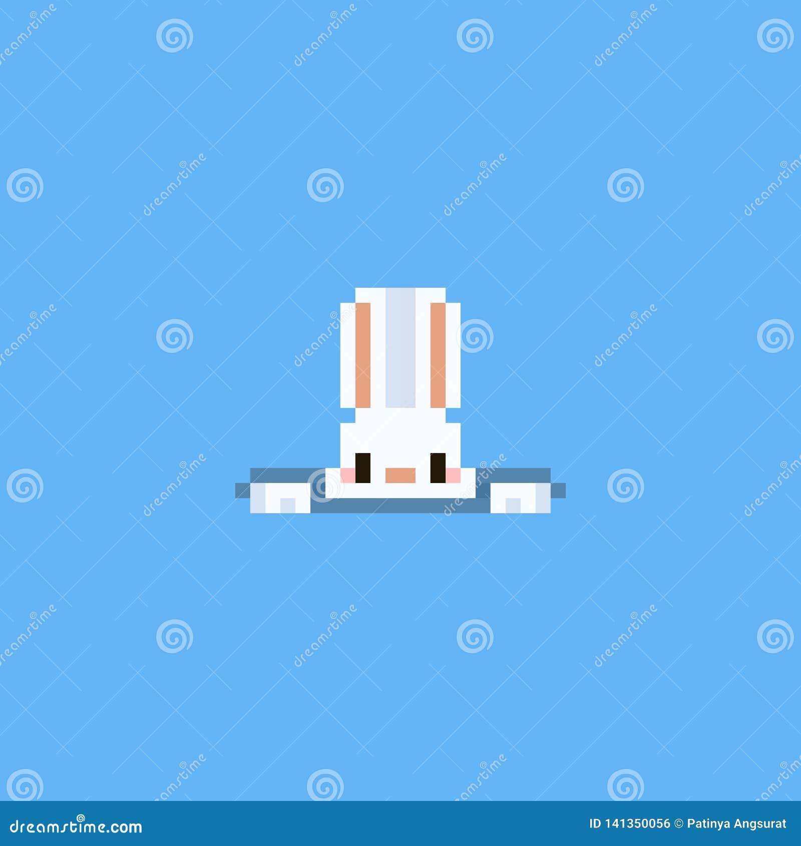 Titre De Lapin De Pixel De Trou Jour De Pâques 8bit