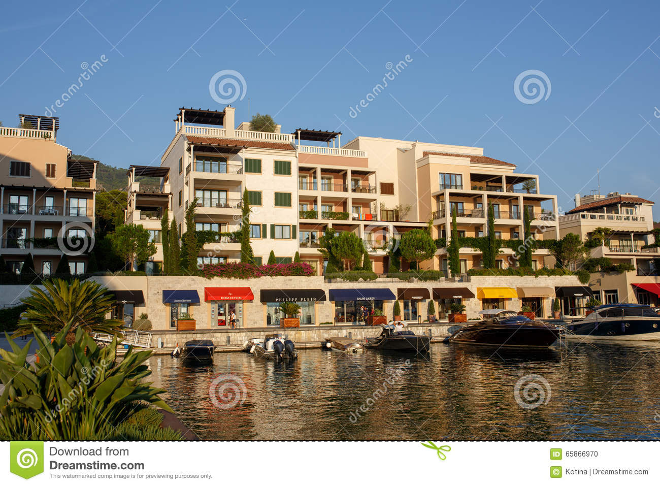 Tivat montenegro august 30 2015 hotels shops and for Blue sea motor inn