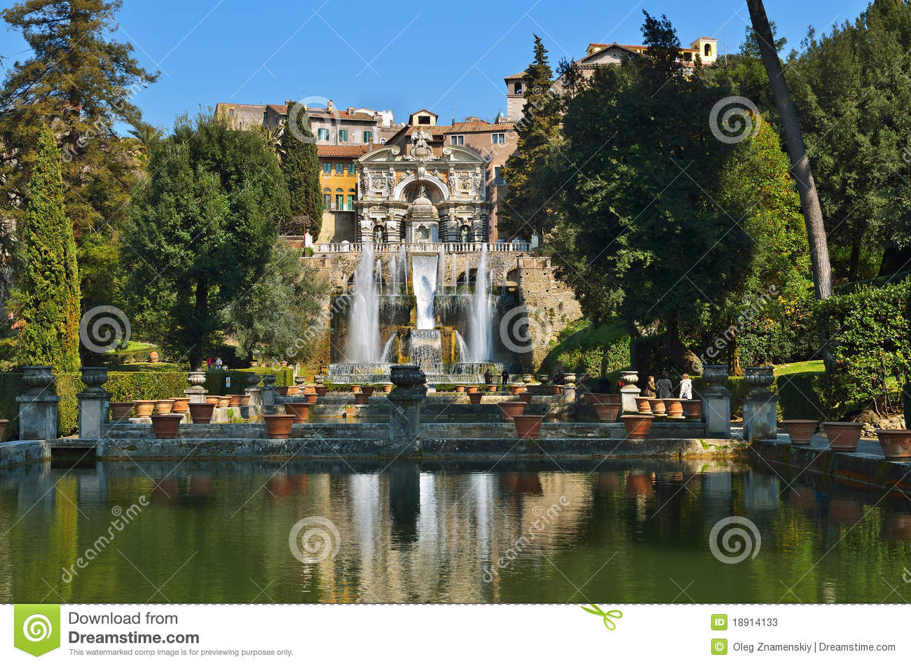Tivoli italia garden pool and fountain stock image for Camping le jardin de tivoli