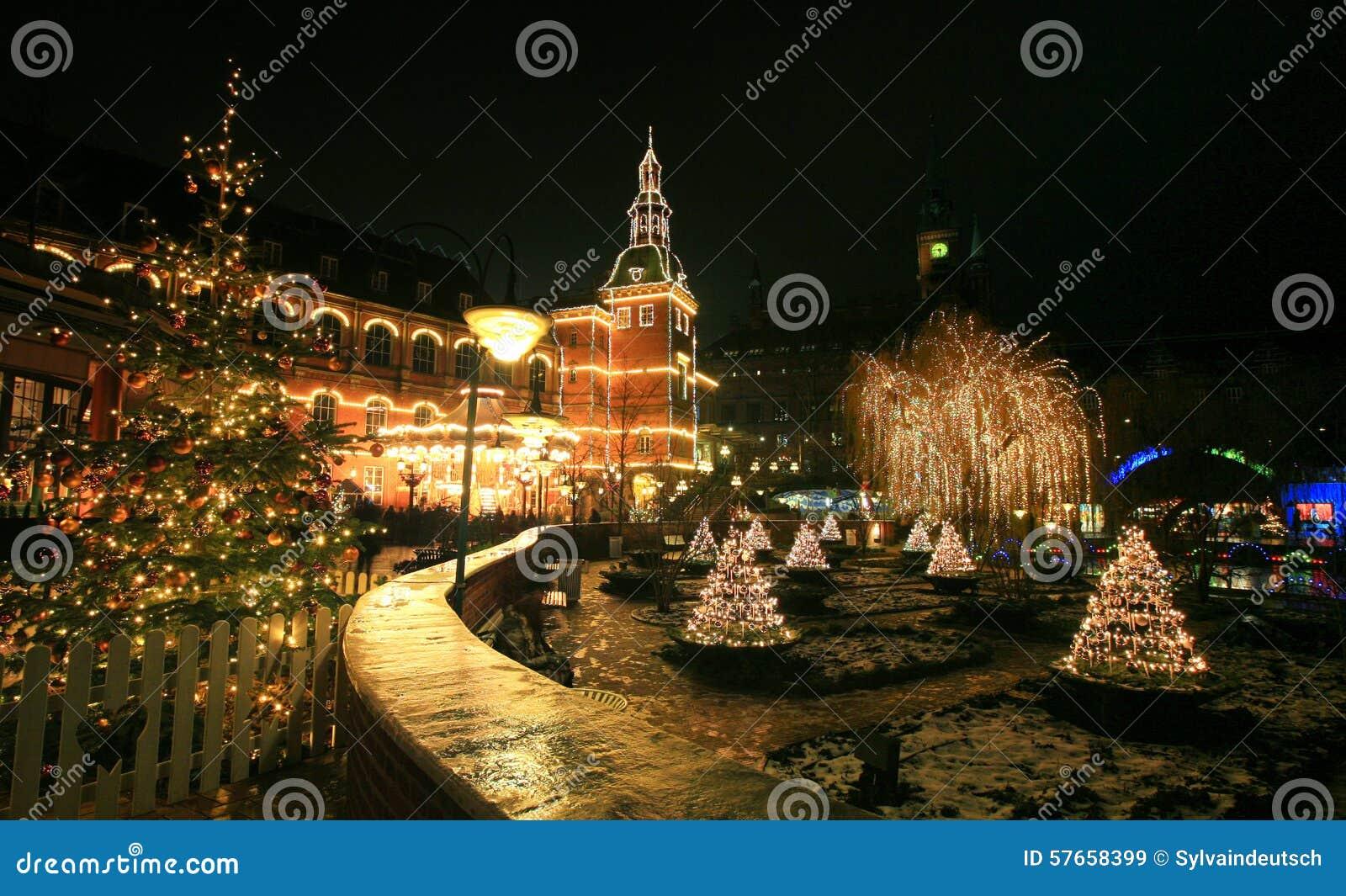 Tivoli ogród przy nowym rokiem