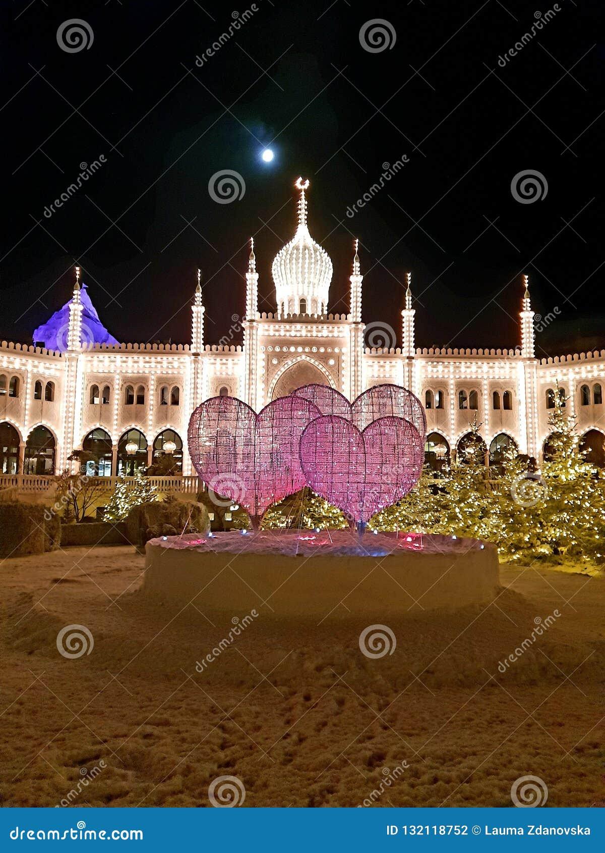 Tivoli& x27;s palace with christmas decorations