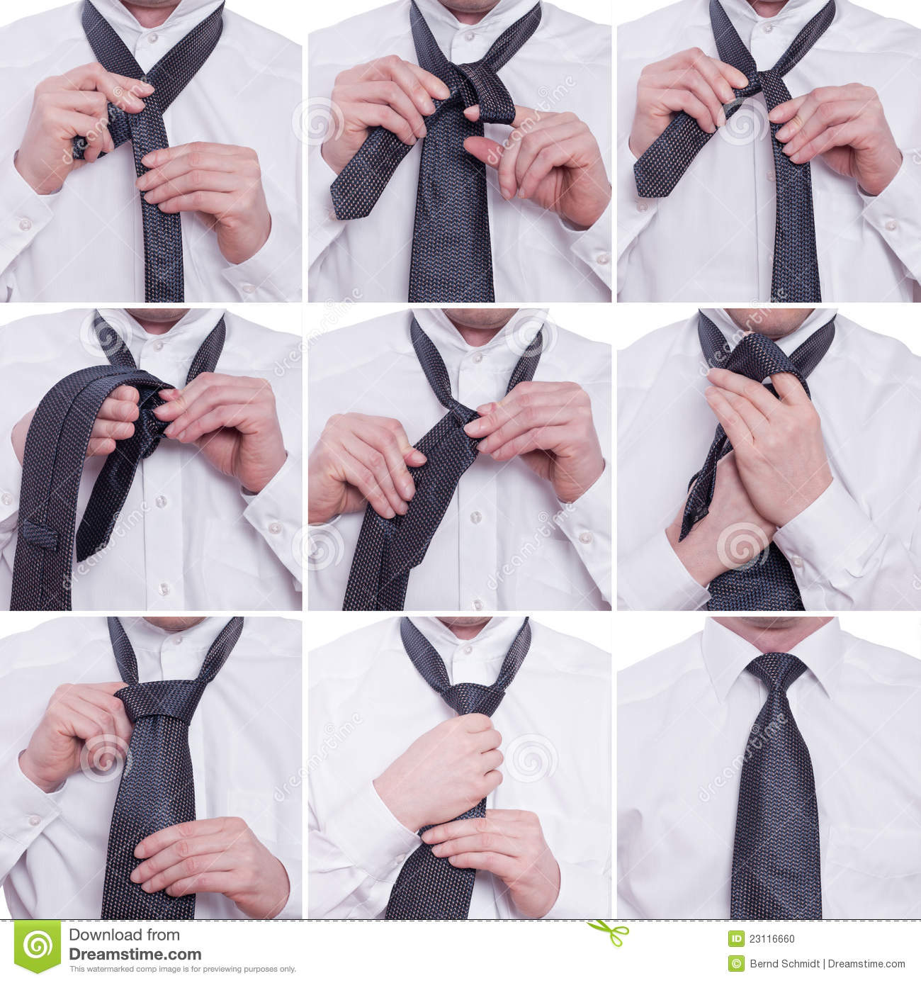 Tiying A Tie With Windsor Knot Stock Photo Image Of Merchant How To Tying