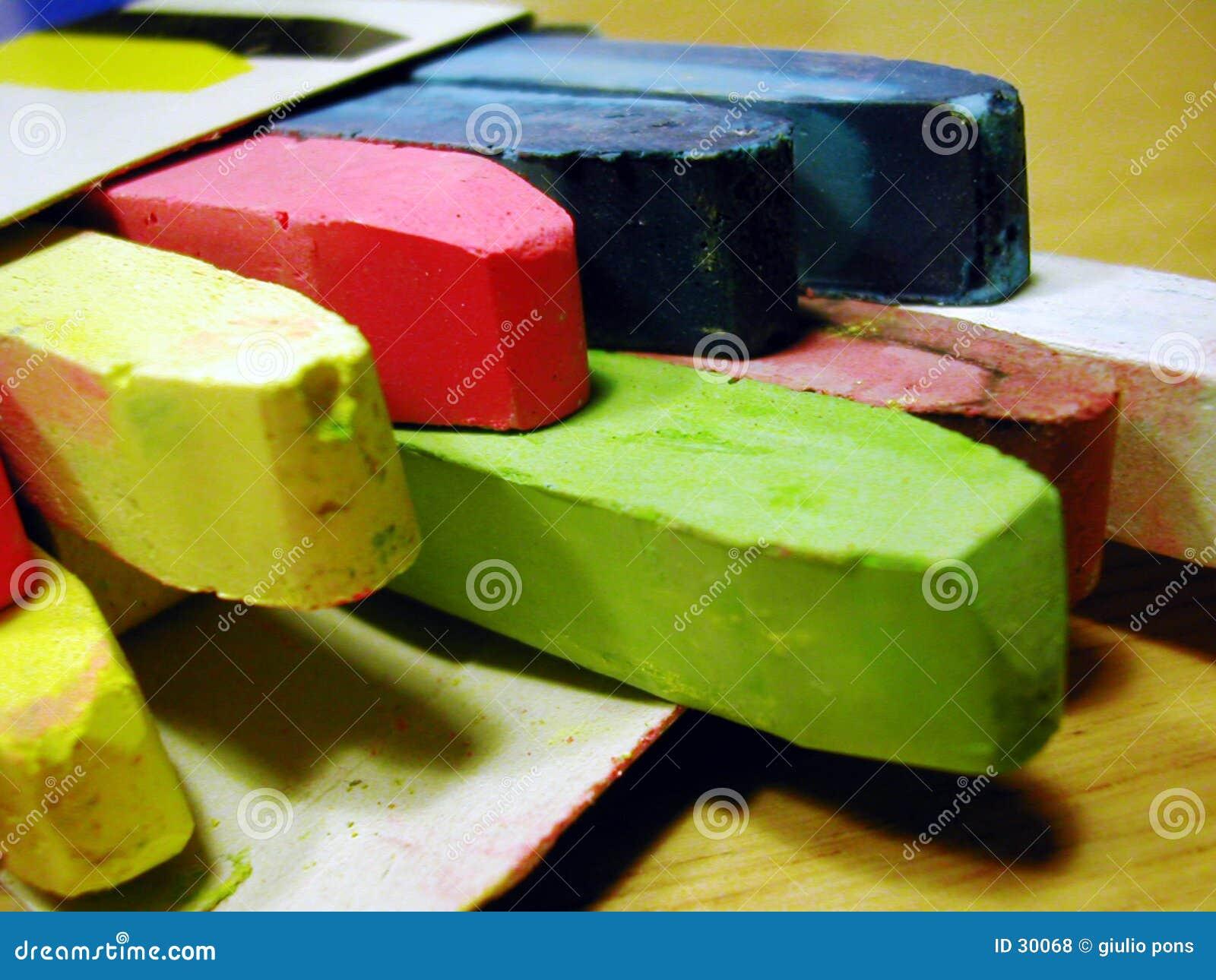 Download Tizas coloreadas foto de archivo. Imagen de escriba, escuelas - 30068