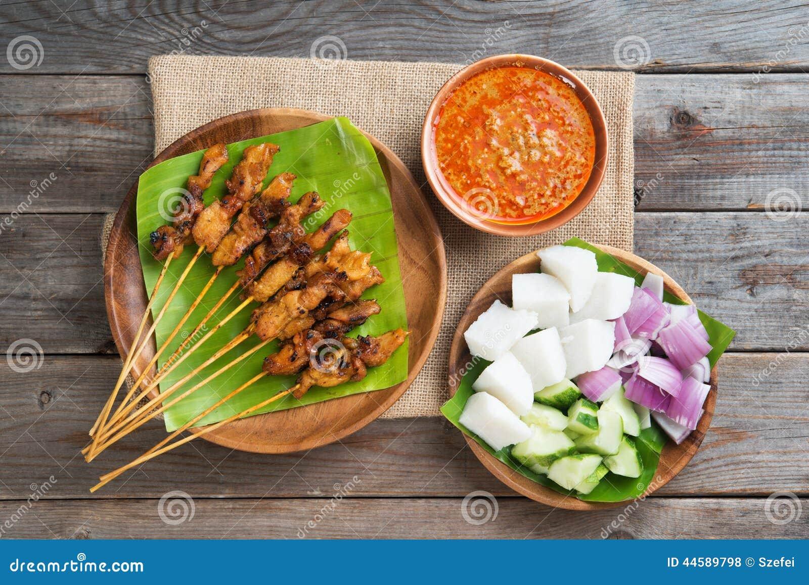 Tjänade som satay sås för den fega kokkonstmalaysianjordnöten thai vanligt
