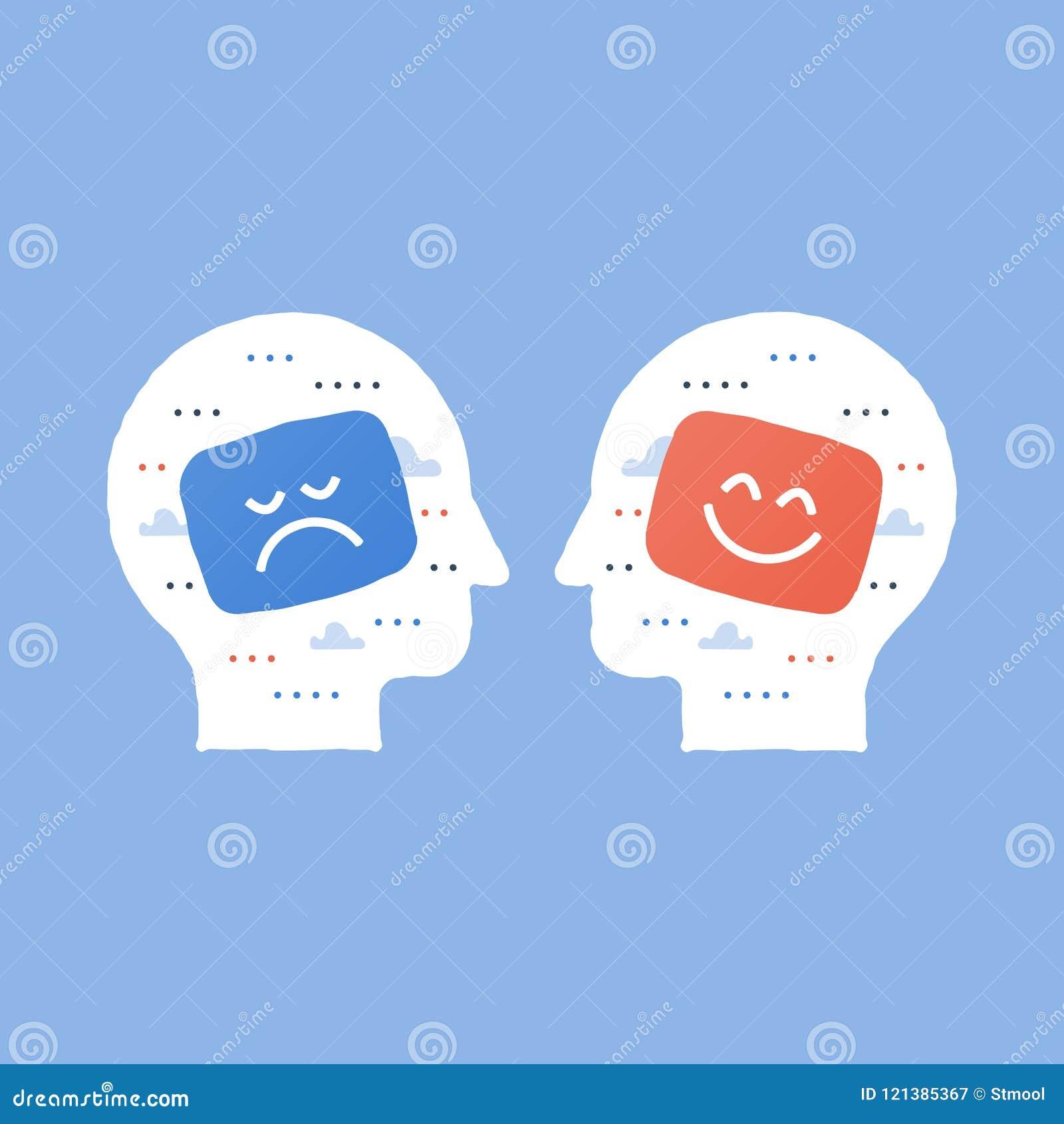 Tjänste- kvalitet, opinionsundersökning, positivt tänka, negativ sinnesrörelse, dålig erfarenhet, bra återkoppling, lycklig klien